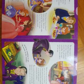 Sofia the first. Stories with stencils
