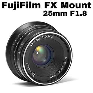 7Artisans 25mm f1.8 for Fuji FX Mount