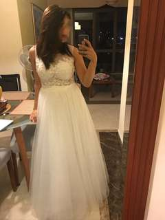 Wedding Gown, White Dress, Long Gown