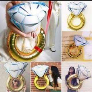 Engagement Ring Large Foil Balloon (80x55cm)