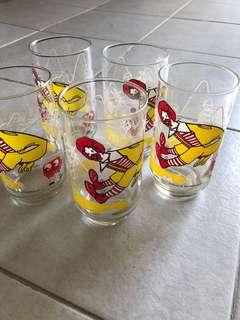 FREE : Ronald McDonald's Glasses Set Of 5