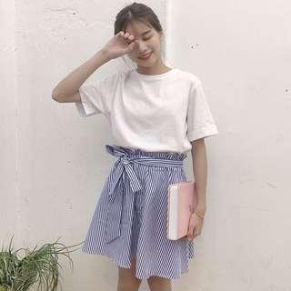 🌸[ PO ] 1 SET Bow Belt High Waist Skirt
