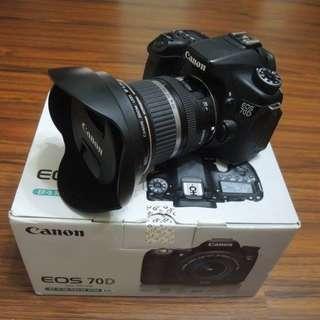 【出售】Canon 70D 數位單眼相機 彩虹公司貨 盒裝完整 9.5成新