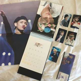 BTS Taehyung V Seasons Greetings fansite calender and goods @WinterstraVerry1230