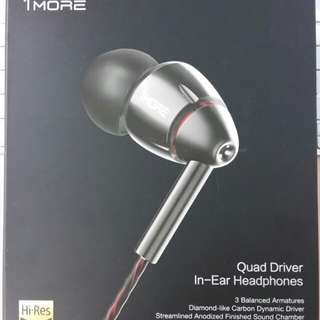 1more Quad Driver Earphone E1010 Gray