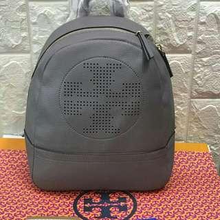 FREE SHIP Tory Burch Backpack back pack bag-gray