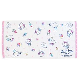 Japan Sanrio Hello Kitty Bath Towel (Ice)