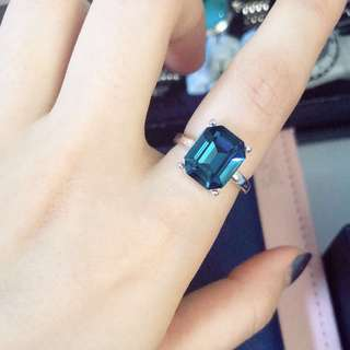 Blue Swarovski Elements Ring