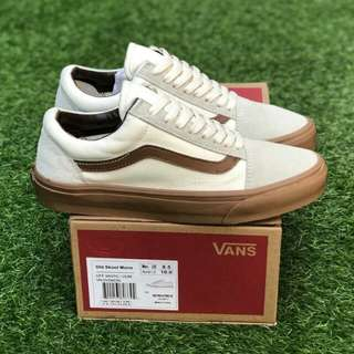 OLDSKOOL MONO OFF WHITE GUM PREMIUM WAFFLE DT BNIB (Brand New In Box) FULL TAG BARCODE MADE IN CHINA 40/41/42/43/44