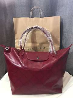 SALE!!! LAST PRICE BRAND NEW AUTHENTIC Longchamp LM Metal long handle tote