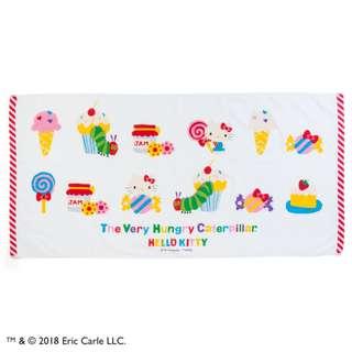 Japan Sanrio Hello Kitty × The Very Hungry Caterpillar Bath Towel (Sweets)
