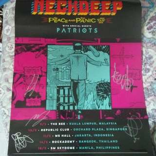 Neck Deep Signed Poster
