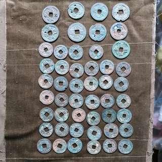 北宋 銅錢 小平40個 大錢9個