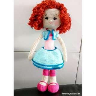 40cm Crochet Emily Doll / Amigurumi (pls pm for Price)