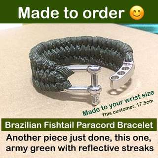 Paracord 550 Bracelets - Brazilian Fishtail c/w adjustable metal buckle [paracord550 customise to your wrist size  gifts handmade uncle.anthony uncle anthony uac]  FOR MORE PHOTOS & DETAILS, GO HERE: 👉 http://carousell.com/p/128640446