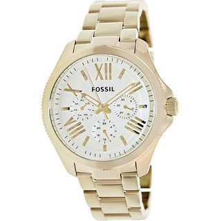 FOSSIL Cecile Multi-Function Champagne Dial Stainless Steel Ladies Watch AM4510