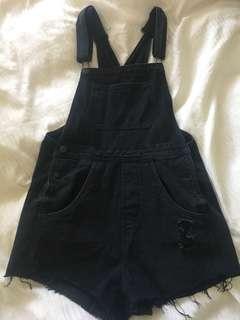 Black dungaree size 10