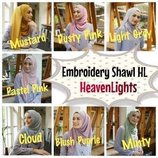 Embroidery Shawl HL Heaven Lights