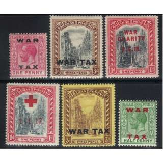 BAHAMAS SMALL WAR TAX MH SELECTION BL551