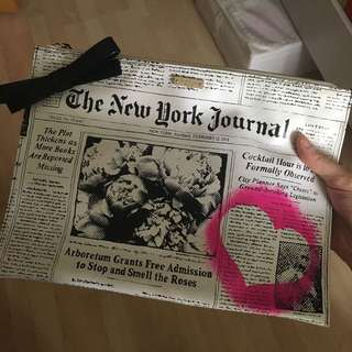 Kate spade envelope zip clutch pouch 手拿包