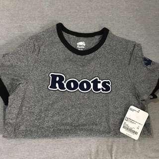(全新 新款式)ROOTS字母短袖T恤-女 XS