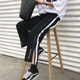 (PO) Harajuku Stripes Casual Pants