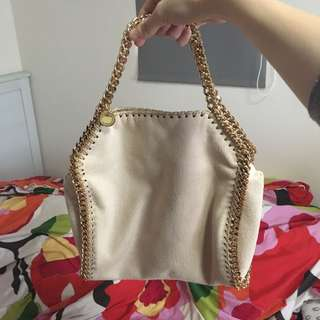 Stella mccartney falabella tote nude pink gold