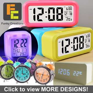 Smart Alarm Clock Various Model from $3.50