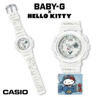 日本代購 sanrio 專門店 2018年 3月 hello kitty x BABY-G 白色 休閒手錶