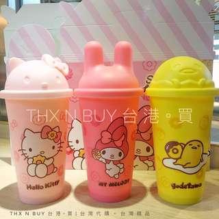 台灣限定新品 Mister Donuts X  Sanrio 限定環保杯套裝。 Hello Kitty、My Melody、蛋黃哥