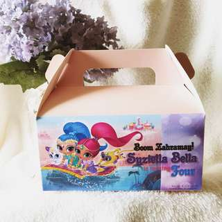 ✔️customize goodie bag / party bag / door gift / goodie box - shimmer and shine