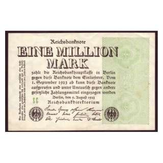 德國紙幣一百萬馬克