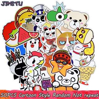 50 pcs random cartoon luggage stickers