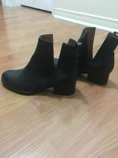 Jeffery Campbell ankle booties with side slits