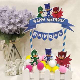 ✔️Customized cake topper - PJ mask