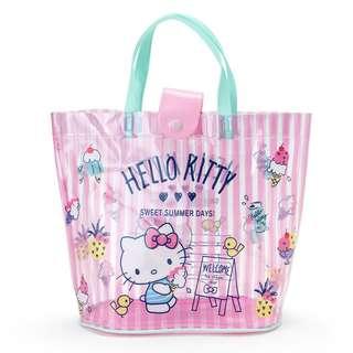 日本代購 sanrio 專門店 2018年 3月 hello kitty  透明手提袋