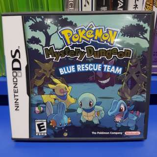 NDS Game: Pokemon Mystery Dungeon: Blue Rescue Team