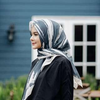 Voal Scarf Printed - Kerudung Segiempat Voal - Hijab Voal