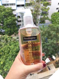 BNIP Neutrogena deep clean facial cleanser normal to oily skin
