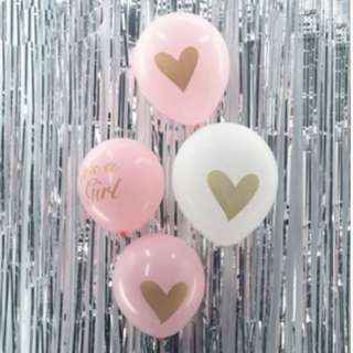 """(In Stock) Baby Shower Balloon Set(4pcs)-""""It' s a girl"""""""