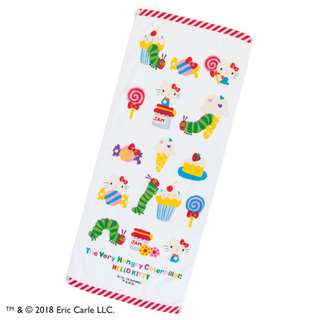 Japan Sanrio Hello Kitty × The Very Hungry Caterpillar Face Towel (Sweet)