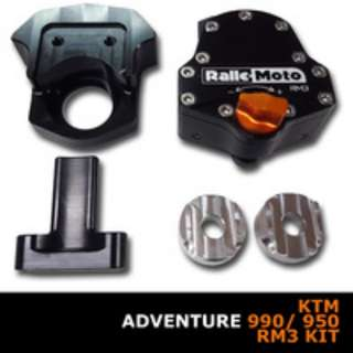 KTM 990 \950 ADV 03-13 and SMT 04-13Fits both KTM 990\950 ADV 03-13 andKTM 990\950 SMT 04-13 MSCMOTO RALLEMOTO RM3 STEERING DAMPER KIT