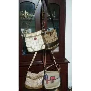 Coach sling bags lots of 4