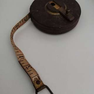 Antique leather measuring tape