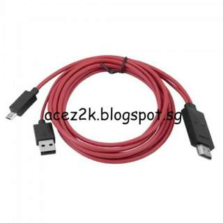 MHL 2.0 11-pin Micro USB to HDMI Cable for Samsung Phones
