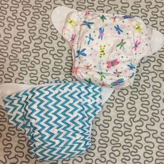 Green future cloth diapers