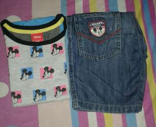 Bundle❤ Mickey T-shirt and Short
