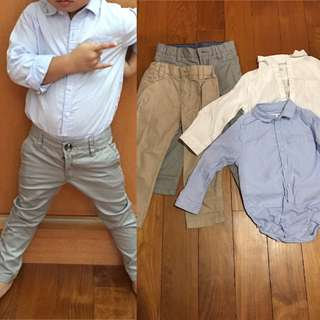 HnM pants and shirts