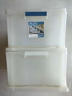 50% Off ALGO Transparent 2 Tiers Storage Box