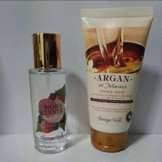 Perfume and hand cream